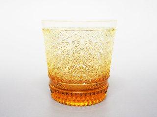 アンバー菊つなぎオールドグラス