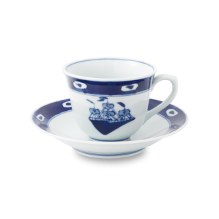 "渕濃帆船 ""百合型コーヒー碗皿"""