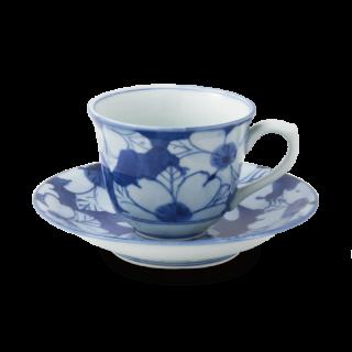 """花濃 """"百合型コーヒー碗皿"""""""