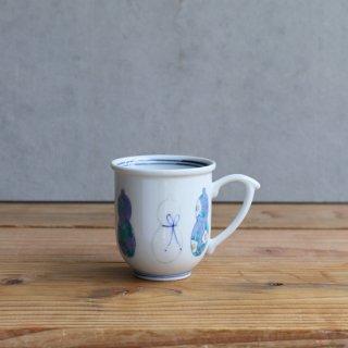 伊万里瓢 マグカップ(青)