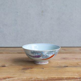 色絵野菜紋 飯碗(大)