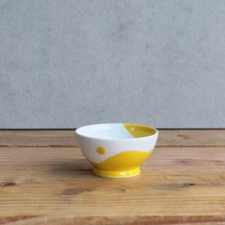 濃黄釉丸紋 ボール(S)
