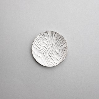 木目 丸小皿 銀