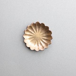 金塗 七宝菊型小皿