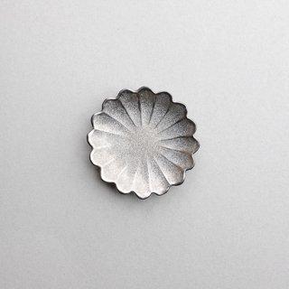 銀塗 七宝菊型小皿