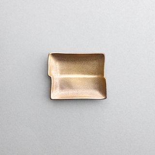 金塗 角型小皿