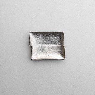 銀塗 角型小皿