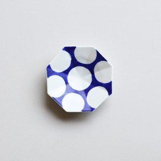 染付丸紋 八角手塩皿
