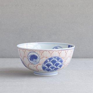 染錦丸紋牡丹 5.5寸段入丼