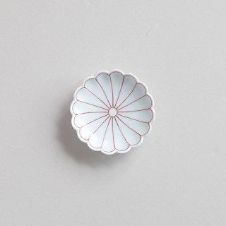 赤絵菊割 菊型3寸小皿