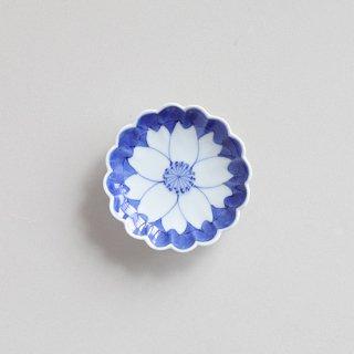 染付外濃桜 菊型3.5寸皿