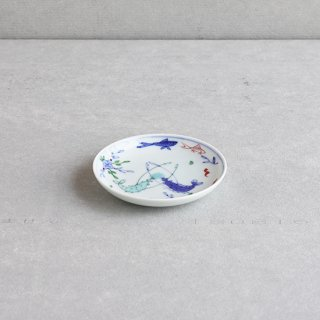 染錦双海老 4寸皿