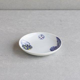 染錦蛸唐草丸紋 5寸皿
