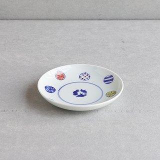 染錦八方丸紋 5寸皿