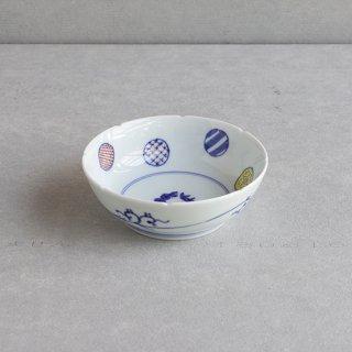 染錦八方丸紋 5寸鉢(なます皿)