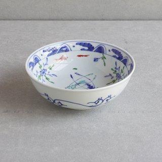染錦双海老 盛鉢