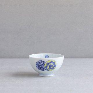染錦蛸唐草丸紋 段入茶付(小)