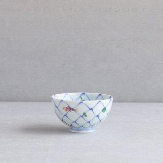 網目魚紋 段入茶付(小)