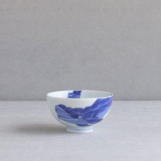 染付ナガスくじら 段入茶付(中)