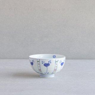染錦草花紋 段入茶付(中)