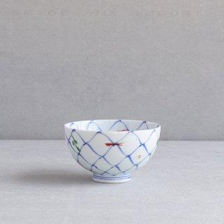 網目魚紋 段入茶付(中)