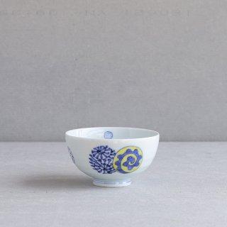 染錦蛸唐草丸紋 段入茶付(大)