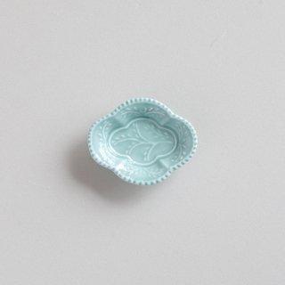 青磁釉 木瓜型小皿