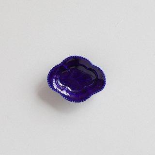 瑠璃釉 木瓜型小皿