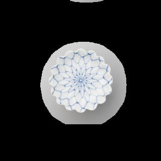 網絵 菊花型手塩皿