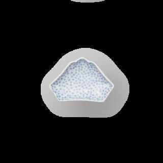 染付小紋 富士山型手塩皿