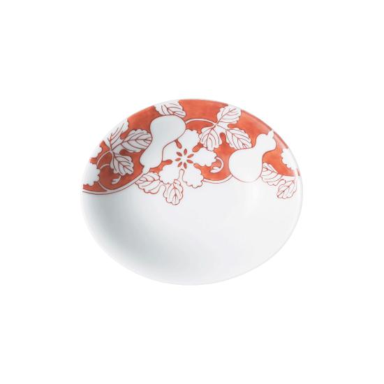 赤濃瓢 楕円小皿