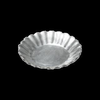 イタリアピューター 菊割小皿
