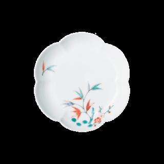 小皿(六方梅形) 松竹梅文