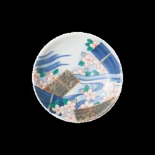 平成鍋島 花笩 豆皿