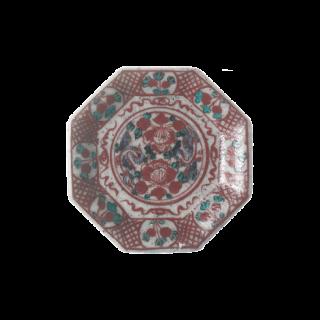 古代牡丹 八角小皿