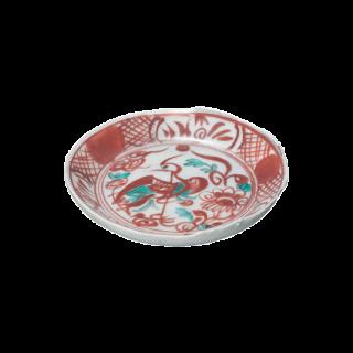 古代花鳥 丸小皿