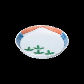 色絵若松富士山図