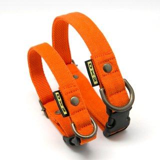 カラー(首輪) 15mm・20mm幅 バイカラー(オレンジ)