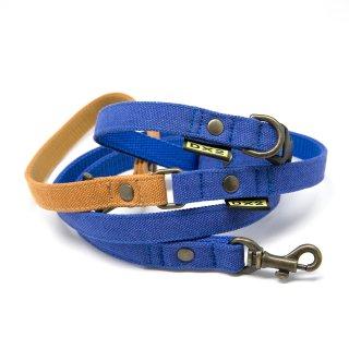 カラー&リードセット 15mm幅 バイカラー(ブルー)×首輪ブルー