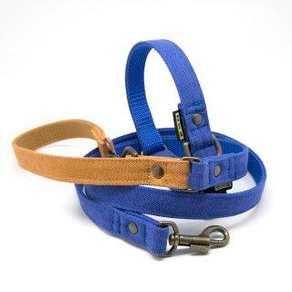 カラー&リードセット 20mm幅 バイカラー(ブルー)×首輪ブルー