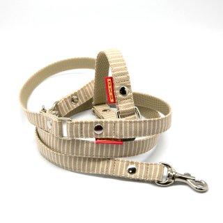 カラー&リードセット 15mm幅 ヒッコリー(ベージュ)