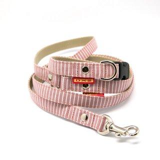 カラー&リードセット 15mm幅 ヒッコリー(ピンク)