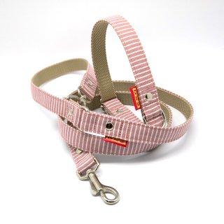 カラー&リードセット  20mm幅 ヒッコリー(ピンク)