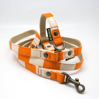 カラー&リードセット 15mm幅 ヴィンテージ(オレンジ)