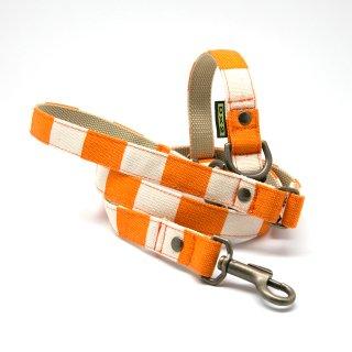 カラー&リードセット  20mm幅 ヴィンテージ(オレンジ)