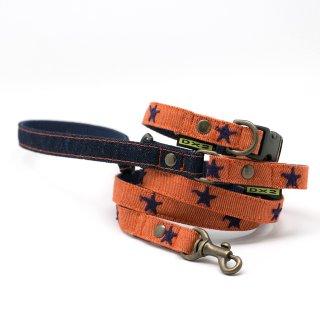 カラー&リードセット 15mm幅 スター(アンティークオレンジ)