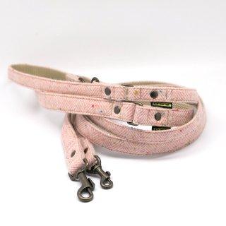 リード(引き紐) 15mm・20mm幅 ヘリンボーン(ピンク)