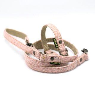 カラー&リードセット 15mm幅 ヘリンボーン(ピンク)