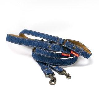 リード(引き紐) 15mm・20mm幅 デニム(ブルー)