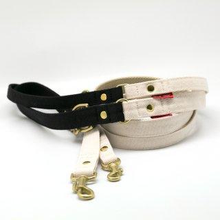 リード(引き紐) 15mm・20mm幅 バイカラー(ブラック×オフホワイト)